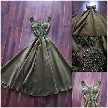 длинное вечернее платье цвет марсала в Кыргызстан: Продаю шикарное вечернее платье в изумрудовом цвете, надевала один