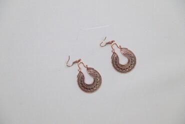 Жіночі сережки у грецькому стилі    Довжина: 4 см Ширина: 3 см  Стан г