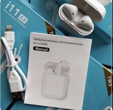 Если купишь одну вторая в подарок)  EarPods i11tws  Всего за 1399 сом