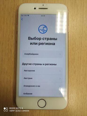 чехол iphone 8 в Азербайджан: Б/У iPhone 8 64 ГБ Розовое золото (Rose Gold)