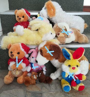 Rasprodaja plišanih kvalitetnih igračaka 5 kom sve za 800 din, raznih