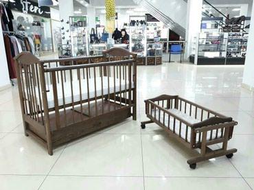 Кроватка деревянная 501.3 дуб с в Бишкек