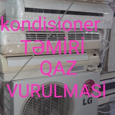 Bakı şəhərində Kondisioner təmiri qaz (firyon) vurulmasi