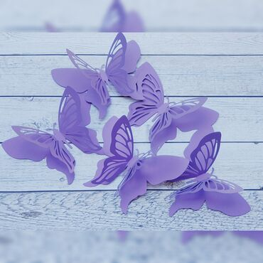 декор бишкек цены в Кыргызстан: Бабочки. Декор. Украшение. Бумажные бабочки. Бумажный декор. Ростовые