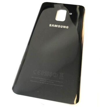 Крышка Samsung A8 (чёрный, золото)  БЕСПЛАТНАЯ ДОСТАВКА ПО ГОРОДУ