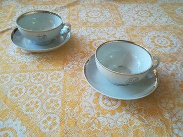 Dve porcelanske šolje za čaj/belu kafu  - Belgrade