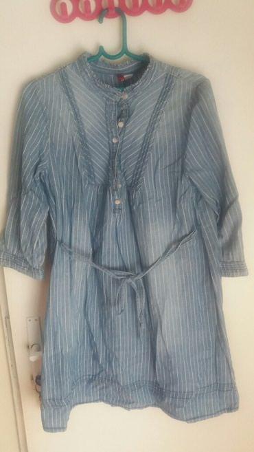 Haljina-ili-kosulja-safari-sa-metalnim-dugmic - Srbija: Zenska kosulja-haljina vel 36