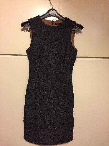 Γκρί σκούρο Zara mini μάλλινο + viscose φόρεμα . Αφόρετο . Κομψό και