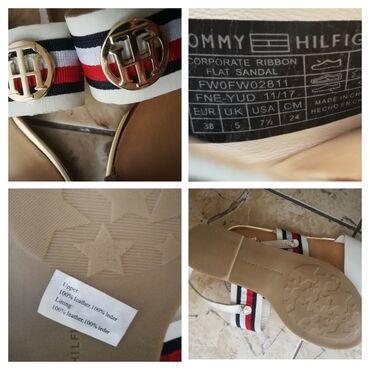 Tommy hilfiger - Srbija: NOVO. Original Tommy Hilfiger kozne sandale.Teget u broju 36, 37Bele