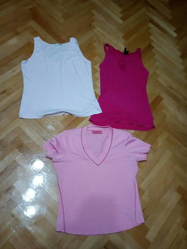 Majica br.38 roze i dr.dve poklonL. duzina 54cm,sirina 44cm - Nis