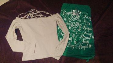 Majice jednom nosene. Velicina s. Zelena top. Krem ima trakice koje - Kucevo