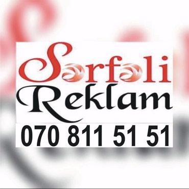 Bakı şəhərində Reklam cap