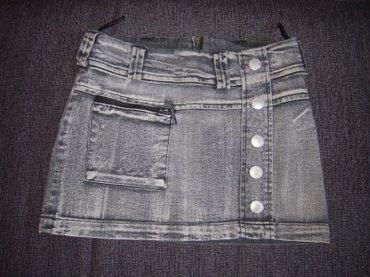 Siva teksas mini suknja u perfektnom stanju, malo nošena i bez ikakvih - Nis