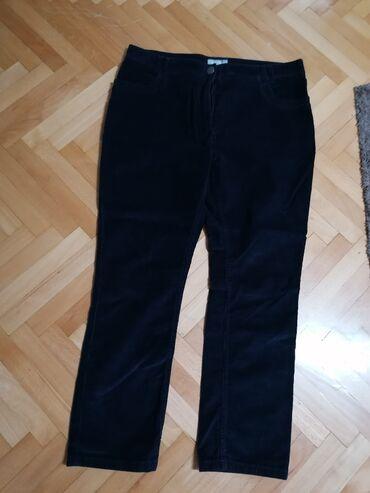 Pantalone ženske, Per UnaBr. 16, iz Engleske, somot, teget, ima