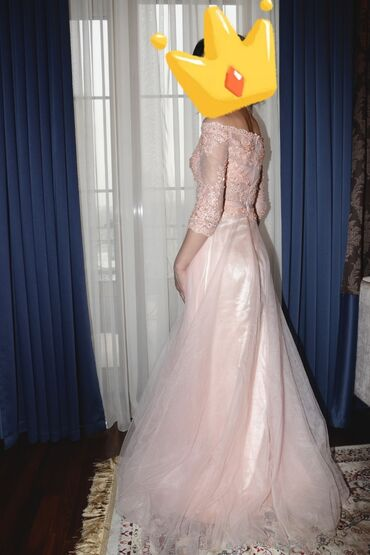 ленточки для подружек невесты в Кыргызстан: Нежно-персиковое платье, носили 1 раз. Подойдет для невест и подружек