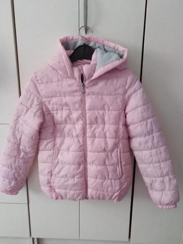 Dečija odeća i obuća - Novi Banovci: Roza teranova vel 10-11Plavi prsluk H&M vel7-8 Mantilic teget bela