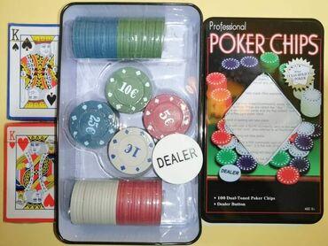 Ostalo - Arandjelovac: 1000dinProfesionalni Poker Set u metalnoj kutiji (100 čipova + 2 špila