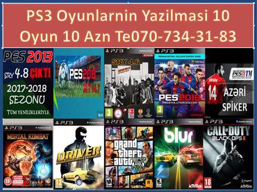 Bakı şəhərində Salam   praşıpkasız   playstation 3 lərə   oyunlar  yazılır  10  oyun