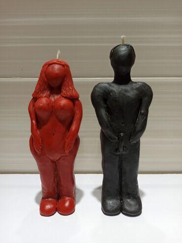 восковая сахарная депиляция в Кыргызстан: Восковые свечи вольт.Размер: Муж: высота 15см 5.5 на 3 см. Жен