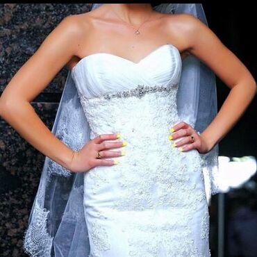 образование без границ в Кыргызстан: Продаю шикарное свадебное платье,из нежного кружева цвета айвори,с