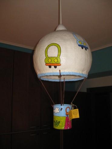 Παιδικό φωτιστικό οροφής, από πεπιεσμένο χαρτί, οικολογικό