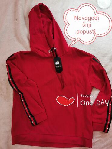 Duks haljina - Crvenka: GUCCI DUKSERICA SA KAPULJACOM. VELIČINA M