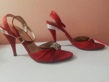 Crvene zenske sandale u 39 broju Nosene ali ocuvane - Lajkovac