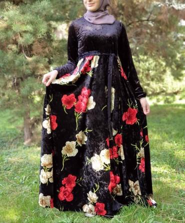 v otlichnom sostojanii botinki в Кыргызстан: Нарядная платья. Ткань королевский велюр