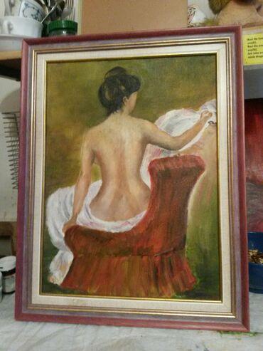 Slike   Sopot: Ulje na platnu . Bogat nanos boje . 40x30. Autorka Iv. Tel