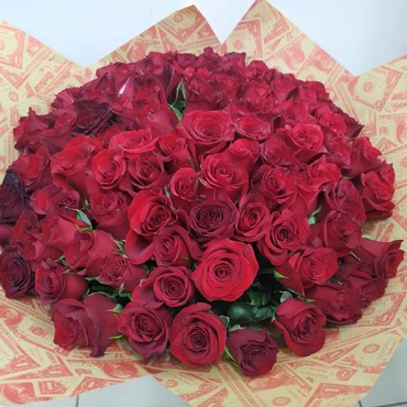 101 роза по 1000 сом 40 см в Бишкек