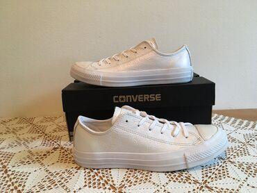 Converse - Srbija: Converse kozna bela top cena : - lepa kozna patika - broj 37-boja