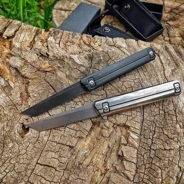 """Складной Нож: """"Silver""""Скальной нож: """"Black""""⠀Сталь: D2Рукоять"""