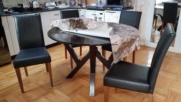 стол трюмо в Азербайджан: Эмбавуд Стол 4 стула