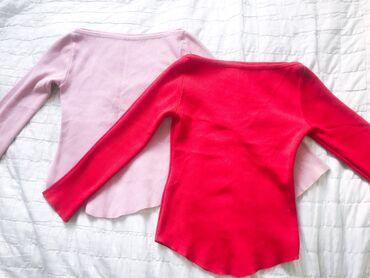 Шерстяные тонкие свитера розового и крас цвета. Размер : стандарт