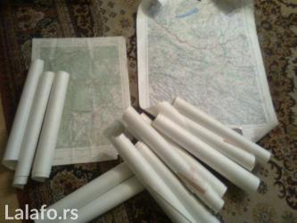 Prodajem stare vojne topografske karte sa slike, 10 komada, iz perioda - Nova Pazova