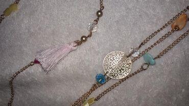 Jewellery Sets - Srbija: Set ogrlica i narukvica. Nijednom noseno. Ogrlica ima tri lanca i