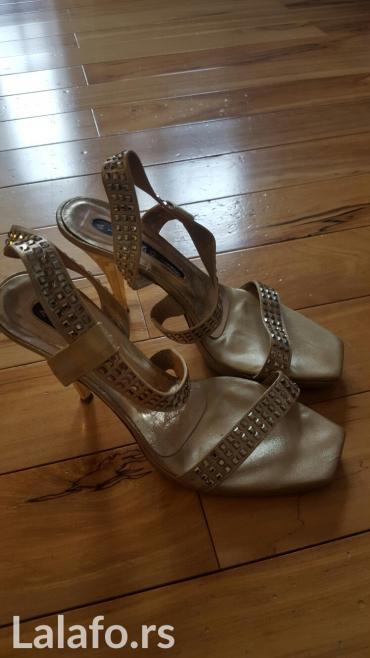 Sandale boje zlata, italijanske, br 38, u perfektnom stanju, kao nove - Nis