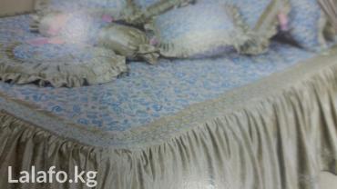 2-спальное-постельное-белье в Кыргызстан: Покрывало для 2 х спальных кроватей Велюр Покрывало очень качестве