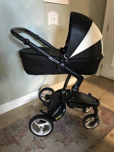Bakı şəhərində Mima Xari Black White Black Stripes Baby Stroller Complete  BEST