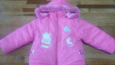 продаю утепленные зимнюю детскую куртку+комбинезон,комплект,на1-5лет.С в Бишкек