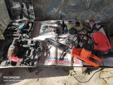 набор инструментов болгарка дрель лобзик в Кыргызстан: Продаю инструменты в отличном состоянии1) отбойный молоток 2)