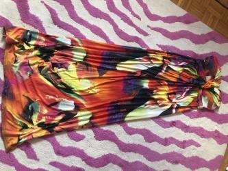 Duga sarena haljina...odgovara velicini S i M ..novo - Kragujevac