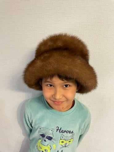 варежки и шапка в Кыргызстан: Норковая шапка 58 размер