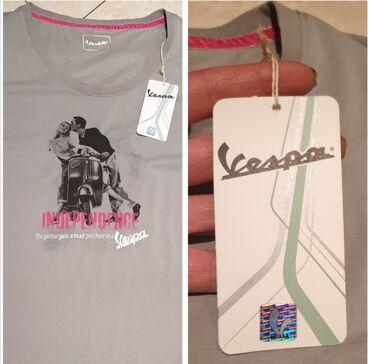 VESPA original zenska majica sive boje, nova sa etiketom i hologramom