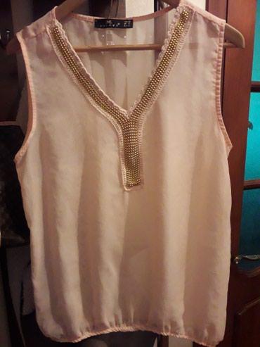 Прозрачная маечка нежно розового цвета .ни разу не одет.размер 44-46 в Novopokrovka