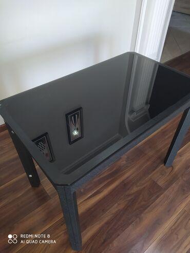 Продаю кухонный стеклянный стол. Черного цвета. Турция. 100*60