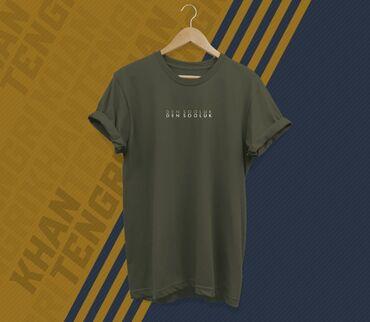 """Личные вещи - Кыргызстан: Футболка с принтом """"Ден Соолук""""Дизайнерские футболки с национальным"""
