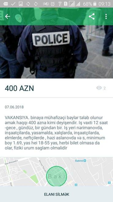 Bakı şəhərində Binaya muhafizeci axtarilir