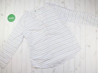 Женская рубашка в полоску Длина: 69 см Рукава: 60 см Плечи: 39 см Мате