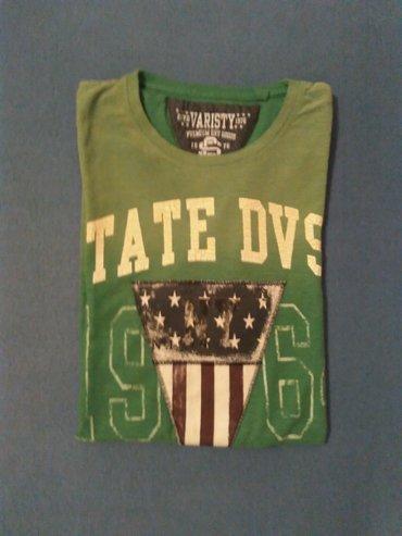 Muska majica,svetlo zelena sa natpisom,marka Varsity,velicina - Nis